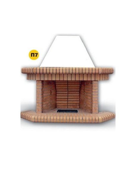 Τζάκι Ανοιχτού Τύπου  Π7  Ελληνικό  Πυρότουβλο Πρισματικό Παραδοσιακό