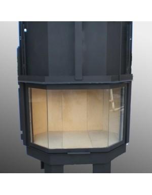 Ενεργειακό Tζάκι VESTALE 85 Πρισματικό Aερόθερμο Ξύλου KW 10