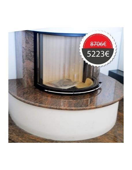 Ενεργειακό τζάκι ξύλου αερόθερμο SPARTHERM γερμανικό KW 11 + διακόσμηση