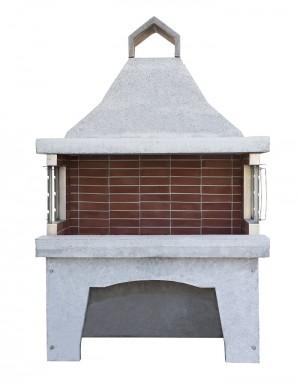Χτιστή Ψησταριά  ΨΤ8  1,50 μ Ελληνικό Πυρότουβλο