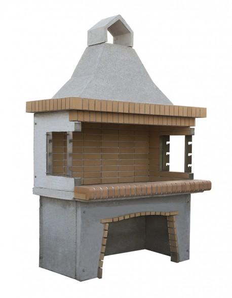 Χτιστή Ψησταριά ΨΤ4 Διπλή Οικονομική Ελληνικό Πυρότουβλο Ξυλόκαρβουνου