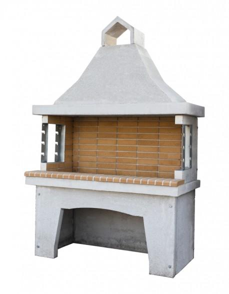 Χτιστή Ψησταριά ΨΤ9 Ελληνικό Πυρότουβλο 1.50μ Ξυλοκάρβουνου